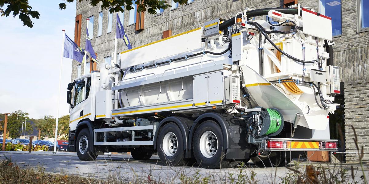 FlexLine® 312 Combination sewer cleaning unit UK IE