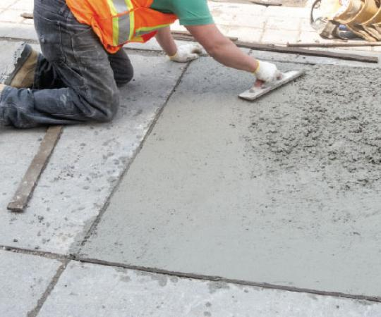 Construction sub-application page - Paving