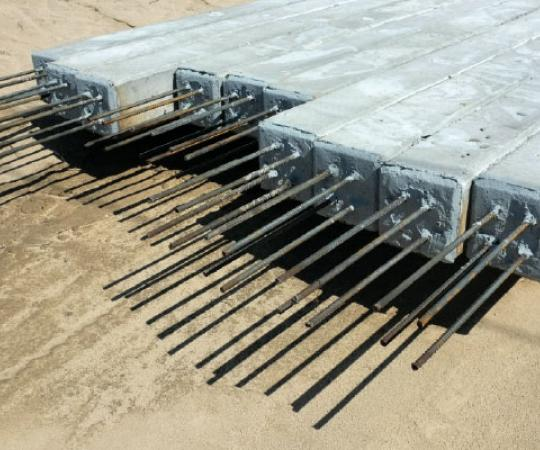 Construction sub-application page - Precast